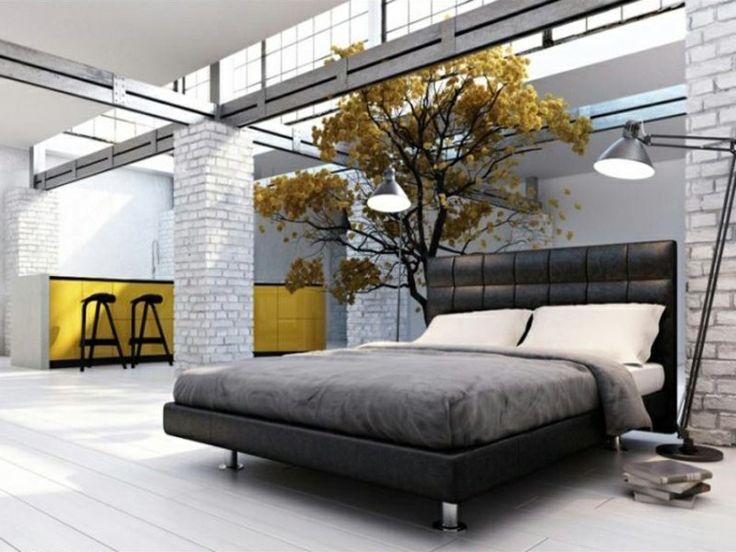Einfache Dekoration Und Mobel Schlafzimmer Einrichtungstipps Fuer Allergiker #24: Einrichtungsbeispiele Mit Gelber Dekoration Im Schlafzimmer