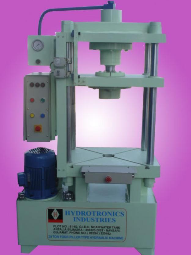 Hydraulic press machine which using cylinder to generate a