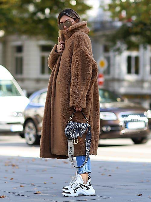 Diese Mäntel-Trends vom Vorjahr bleiben weiterhin IN   Street style   Teddy  coat, Coat, Teddy bear coat c2de9be82f1