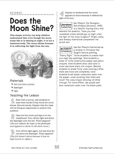 How many full moons have made you look up into the sky with wonder? Now's the time to share that wonder and excitement with your child using this science lesson about the moon.