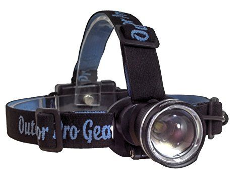 LED Headlamp Flashlight Bright 1000 Lumen Cree. Great for Running Hiking Camping Caving Hunting Bicycling. Water Resistant Quality Rugged & Durable. The BEST & AFFORDABLE EVERYONE Can Own one! (Silver)