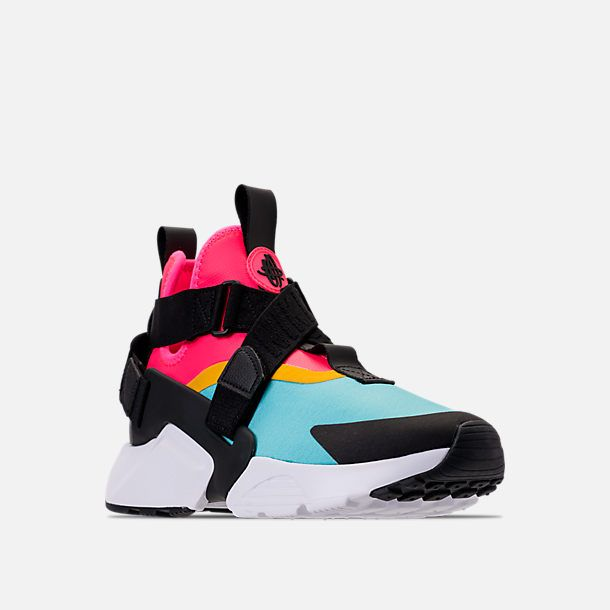 info for f7025 266f8 Three Quarter view of Nike Air Huarache City Casual Shoes (Check  Description for Sizing Information) in Bleached Aqua Black Racer Pink
