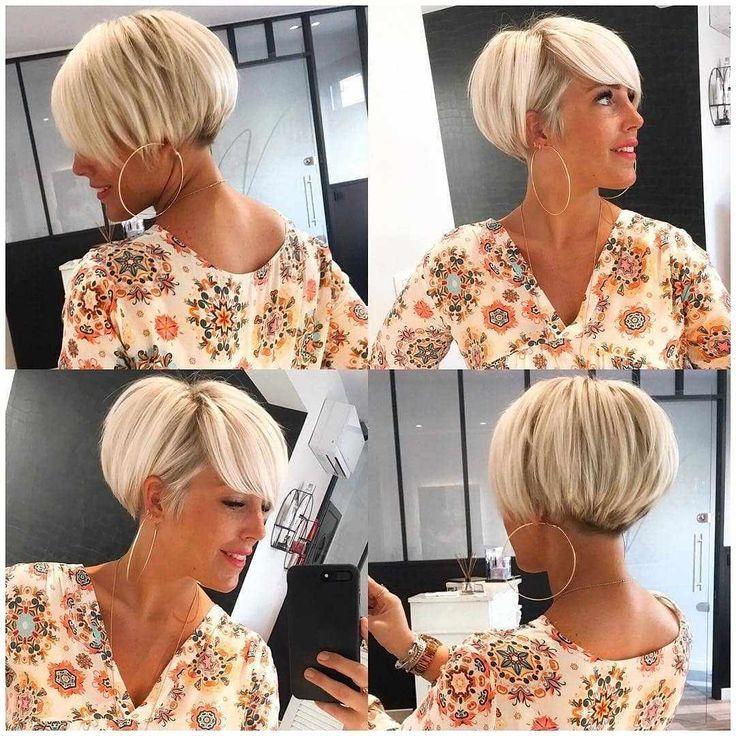 Neue moderne Kurzhaarschnitte für Frauen Pixie And Bob Cut – 2019 #Haarstile #Pixie-Frisuren #Kurzhaarschnitte