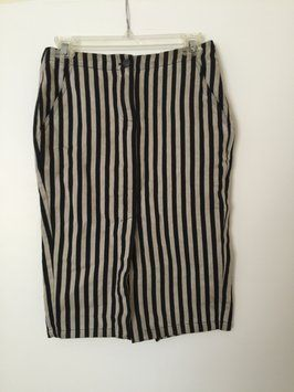 Funky, striped skirt, perfect for everyday wear for the edgy fashionista or even as a piece for a #Halloween costume! - #vegan #style #Tradesy #Beetlejuice #fashion #linen #cotton #Diesel #modern #hip