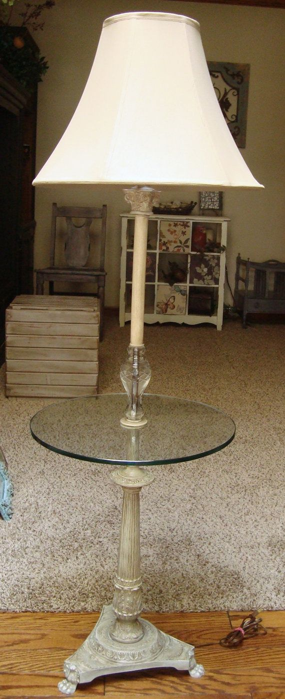 11 best lamps images on pinterest pier 1 imports fabric rosette items similar to vintage floor lamp table with glass tray decorative painted metal on etsy geotapseo Gallery