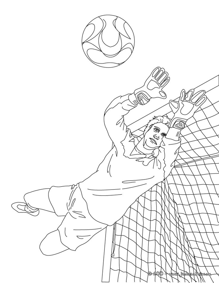 Gardien de but colorier coloriage pinterest - Coloriage footballeur ...