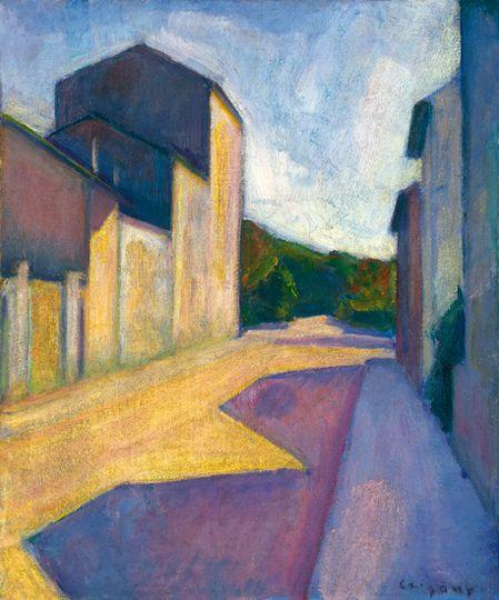 Czigány Dezső (1883-1938) Párizsi utcarászlet, 1925 Olaj, vászon kartonon, 47x39,5 cm