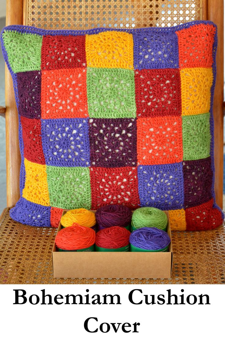 Bohemian Cushion Cover Kit available fro www.wooljunction.co.za.