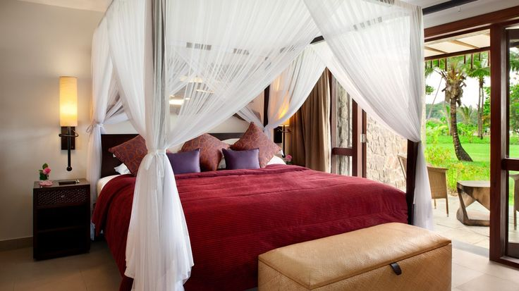 One Bedroom Beachside Suite Bedroom | Kempinski Seychelles Resort