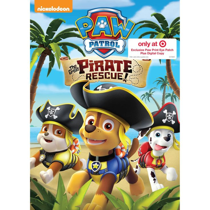 Paw Patrol: The Great Pirate Rescue Target Exclusive (Dvd)