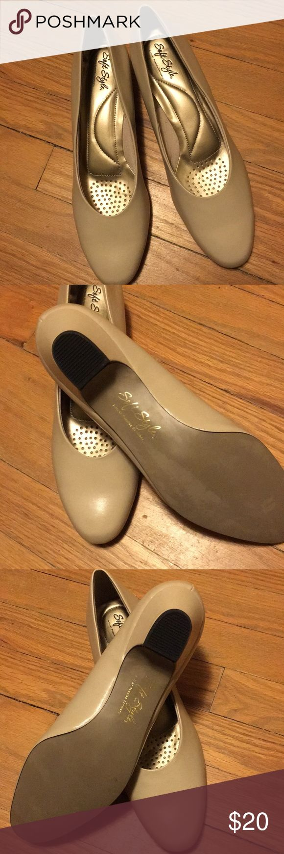 NWOB Soft Style by Hush Puppies low heel size 11 Beautiful new shoes never worn! Beige/nude with 1.5 inch heel. Hush Puppy brand. This shoe is stylish and comfortable!! Better than store purchase due to the great price as listed. soft style by hush puppies Shoes Heels