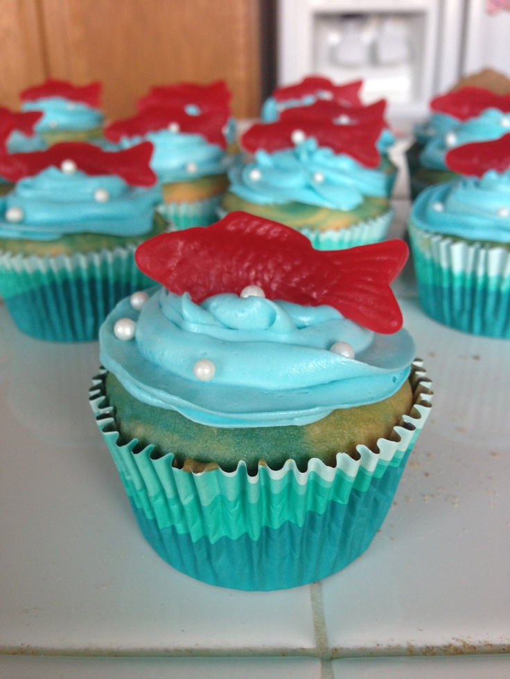 Fish Cupcakes My Cakes And Cupcakes Pinterest