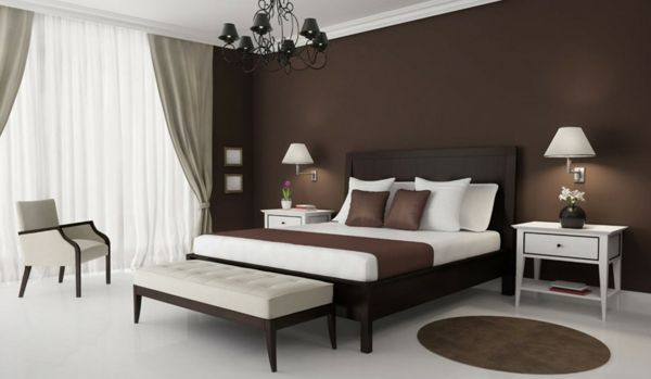 beste wandfarbe f rs schlafzimmer braun schwarzer. Black Bedroom Furniture Sets. Home Design Ideas