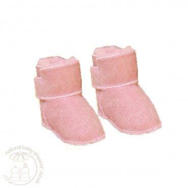 Heitmann Lambskin Booties - Rose  http://www.naturalbabyshower.co.uk/heitmann-felle-lambskin-booties-rose.html