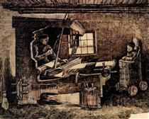 Weaver, with a Baby in a Highchair - Vincent van Gogh
