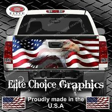 American Flag Eagle Truck Tailgate ...