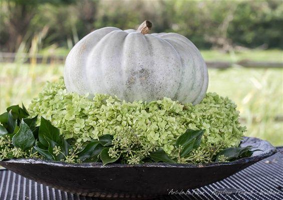 Herfst voorbeelden - www.artdelafleur7.nl  Herfst krans wreath autumn fall Hop Hedra Angelique Temmink Waalboer ' Art de la fleur '