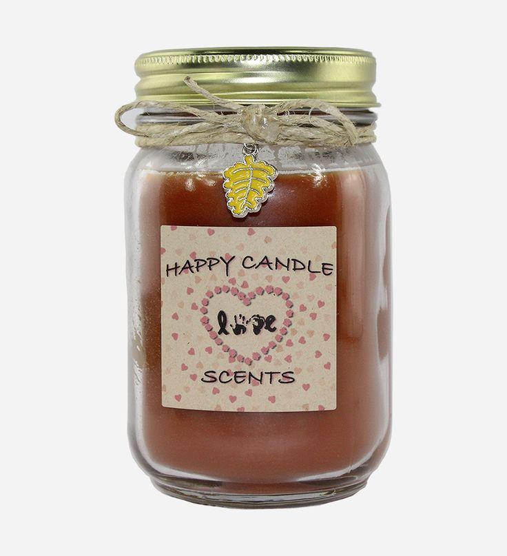 Pumpkin Crunch Cake 16 oz Handmade highly scented mason jar candle