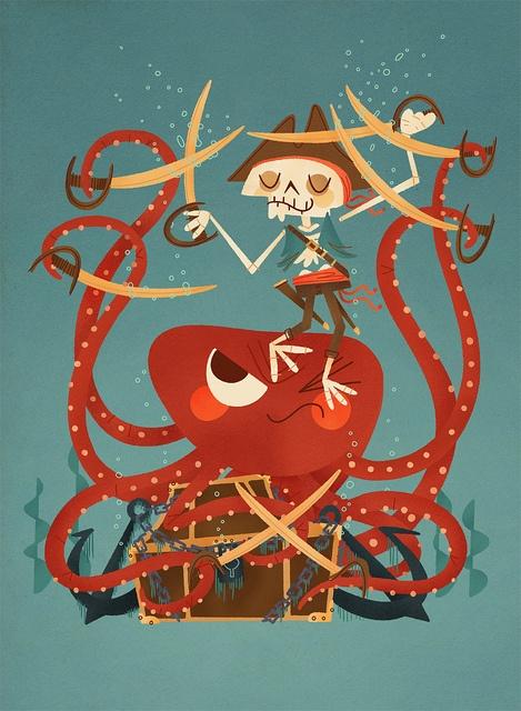 Andrew Kolb Pirate vs octopus