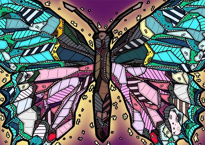 Butterfly Illustration by Kelly Blake