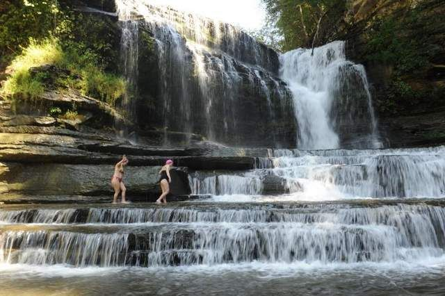 Cummins Falls is the eighth-largest waterfall in Tennessee in volume of water, and was named one of the top 10 best swimming holes in the U.S. in Travel and Leisure magazine.