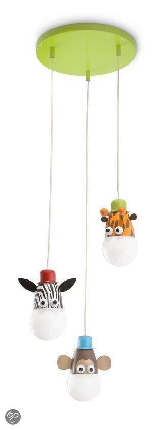 Philips Mykidsroom Zoo - Hanglamp - 3-Lichts - Multicolor 91euro