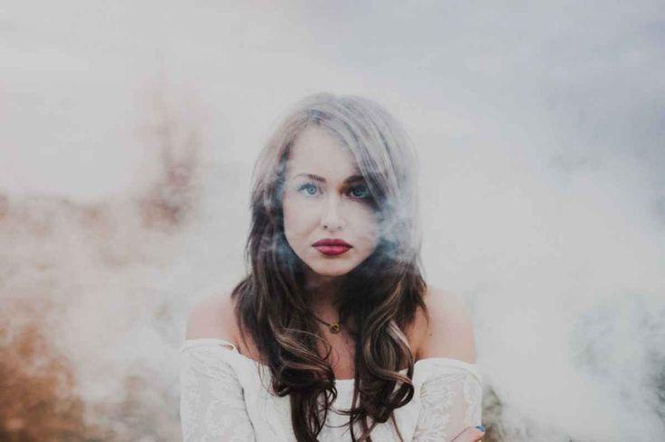 Interesting idea for unusual portraits - adding smoke.
