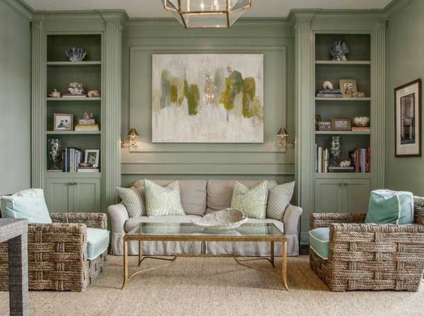 Loving these built-ins. And that green paint color!