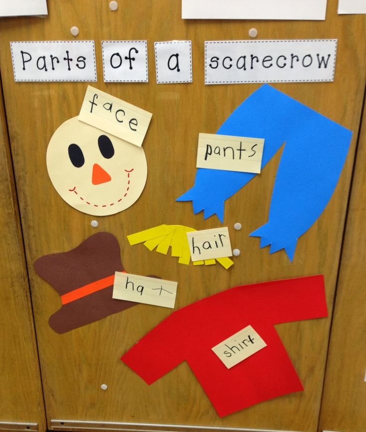 A Spoonful of Learning: Scarecrows- Week 1 & a FREEBIE!!--awesome page, but for my threes this is the best for learning about body parts and clothing choices