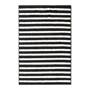 Horizon HRZ-1082 2' x 3' Black and Cream Scatter Rug | Nebraska Furniture Mart