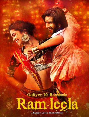 Ram-Leela - a Bollywood adaptation on shakespeare's romeo and Juliet, set in warring times between two violent families. Masterfully done epic, featuring the lush, vibrant opulence Sanjay Leela Bhansali's sets are known for.