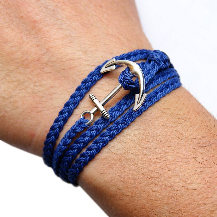 anchor bracelet, braid bracelet, macrame, men style, men jewelry, men bracelet