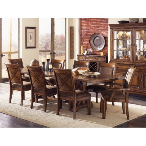 Larkspur trestle table and 4 side chairs   HOM Furniture. 66 best Dining Room Decorating  Colors and Design images on