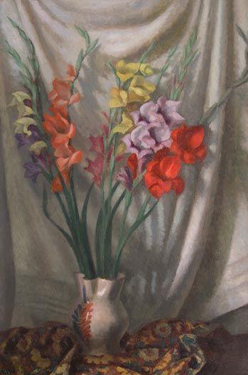 Roger Fry (British, 1866-1934) - Still Life with Gladioli, 1930.