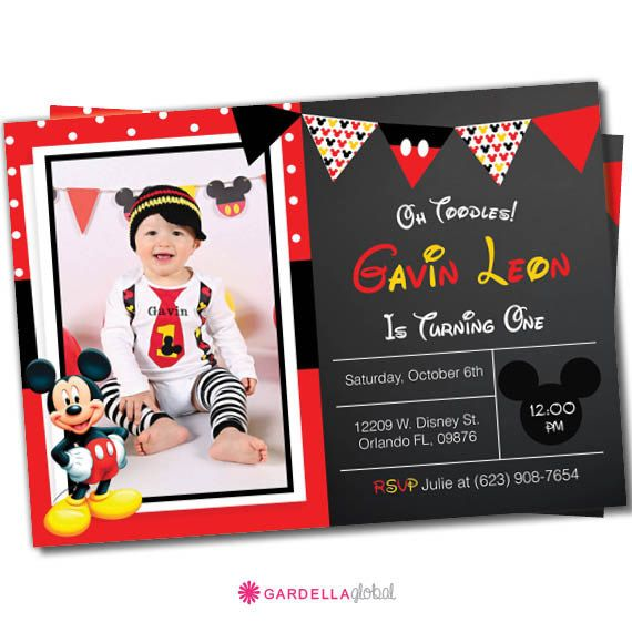 Mickey mouse Invitation Mickey mouse invite by CreativeTouchhh