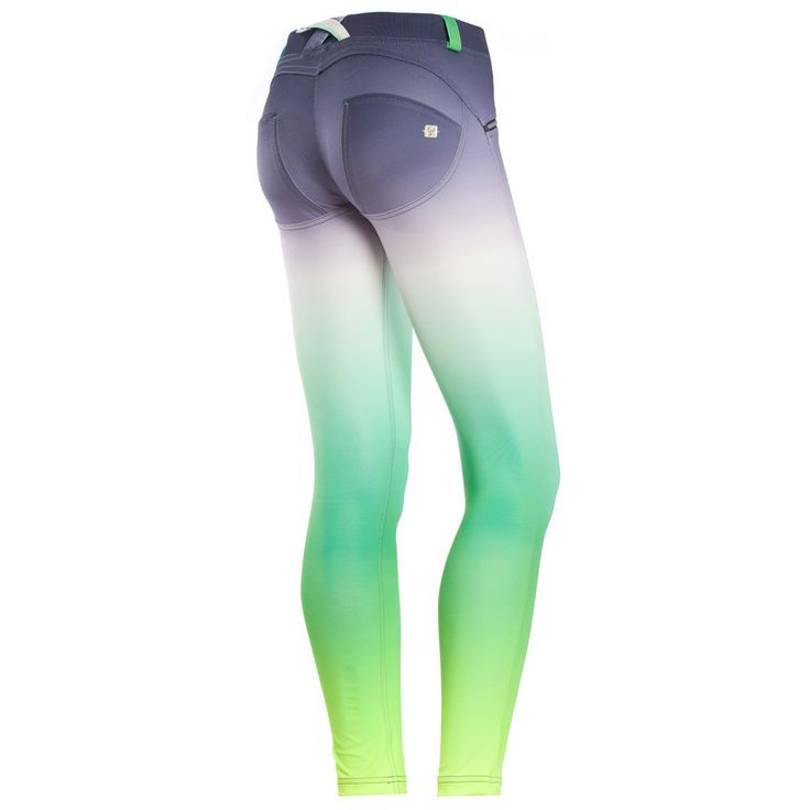 WR.UP® SHAPING EFFECT - 7/8 ANKLE DIWO® - VIVID GREEN OMBRE PRINT