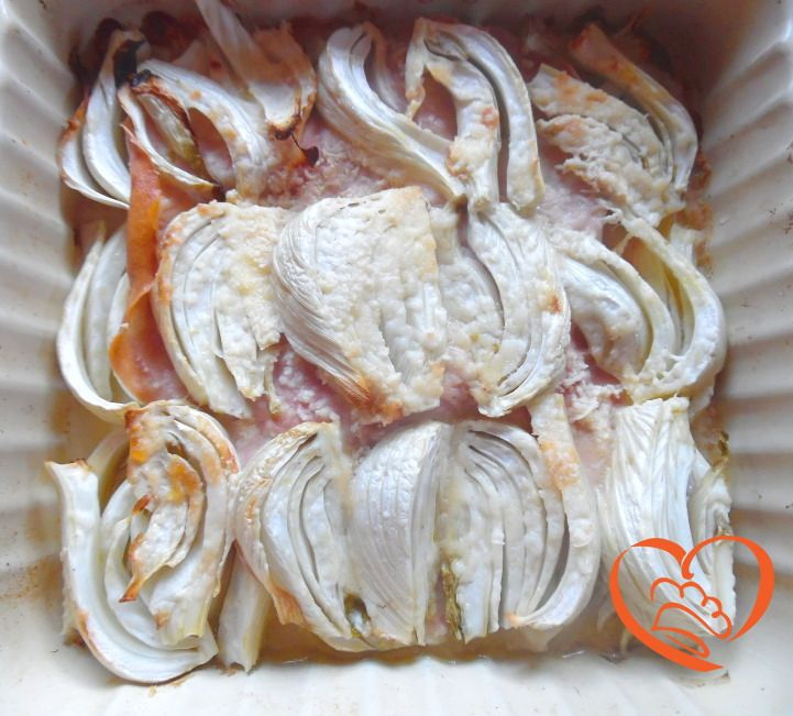 Finocchi gratinati con mortadella http://www.cuocaperpassione.it/ricetta/97331f4c-9f72-6375-b10c-ff0000780917/Finocchi_gratinati_con_mortadella