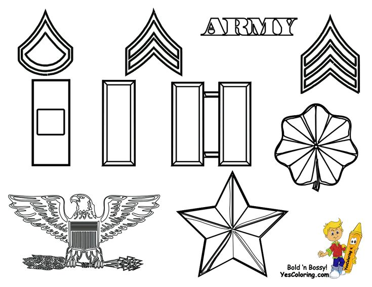 47 best Fearless Army Coloring Pages images on Pinterest | Army ...