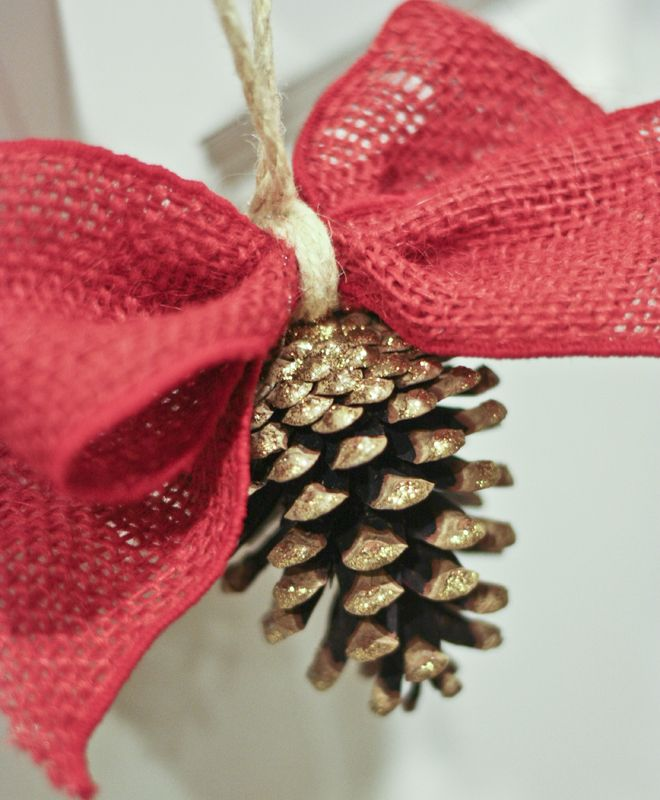 Glittered Pine Cone Ornaments