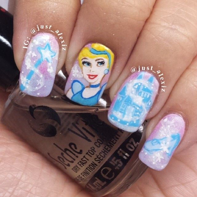 Cinderella Nail Art: 17 Best Images About Disney Nails On Pinterest