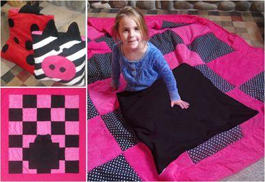 "Easy Quillow Patterns ""Zebra"""