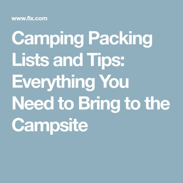 The 25+ best Camping packing lists ideas on Pinterest Camping - packing lists