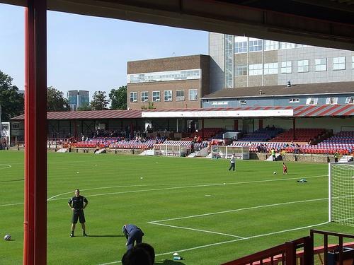 "Aldershot Town FC, The ""Wreck"", Hampshire, UK"