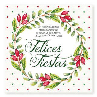 Felices Fiestas Acuarela ::  tarjetas para navidad y fin de año