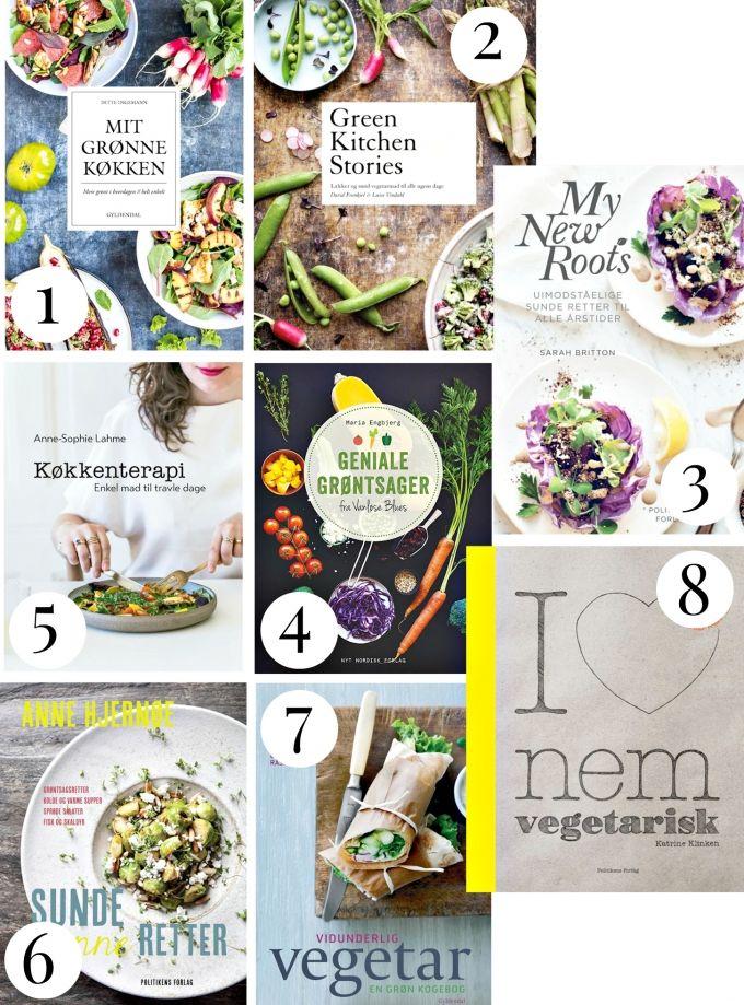 Her er8 vegetariske og veganskekogebøger, der alle indeholder nemme og sundehverdagsretter.Jeg er vild med de vegetariske og veganske tendenser samt øget mediefokus, der er opslået indenfor det seneste år.