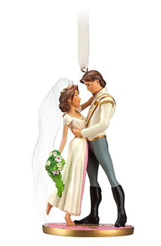 D'aw! Disney Store Tangled Ever After Flynn and Rapunzel Wedding Christmas Ornament | eBay