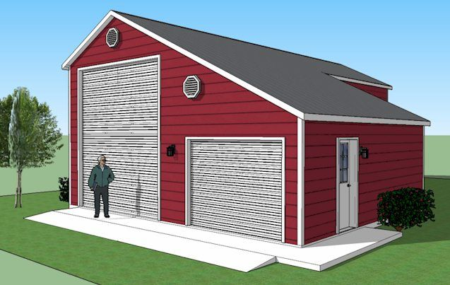 1000 images about barns on pinterest pole barn designs for Steel garage plans