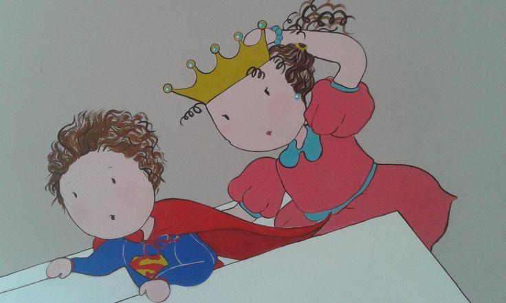 Camera di Tommaso e Viola #disegni bambini