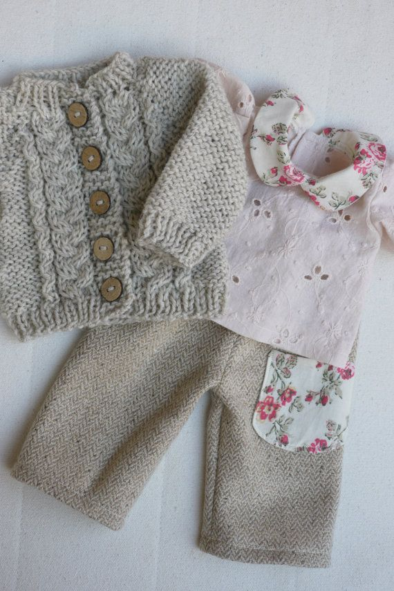 Waldorf Girl Doll Clothes Trousers Blouse & Sweater by brusenjka