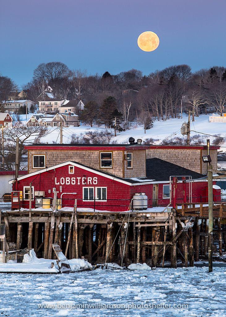 Lobster Wharf Moon   Flickr - Photo Sharing!